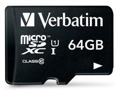 Verbatim memorijska kartica MICRO SDXC 64 44084