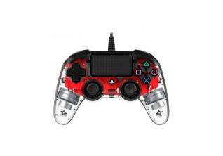 Nacon Kontroler PS4 Illumination Compact PS4OFCPADCLRED - Crveni
