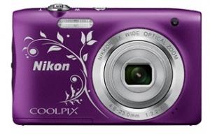NIKON kompaktni fotoaparat S2900 SET LJUBICASTI