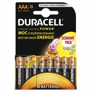 DURACELL baterije BASIC AAA 8 KOM