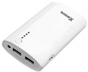 X WAVE power bank BOOK 66 WHITE
