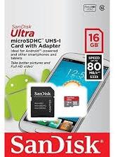 SANDISK memorijska kartica SDHC16GB MICRO 80MB