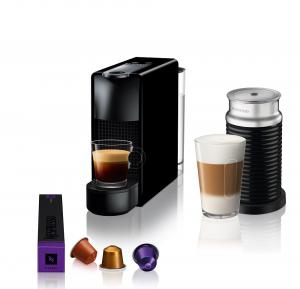 Nespresso Aparat za kafu Essenza Mini + Aeroccino - Crni