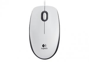 Logitech Žični miš M100 - Beli