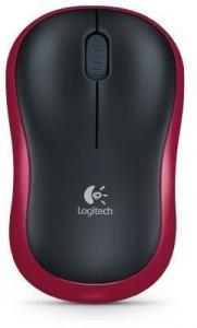 Logitech bežični optički miš M185 CRVENI