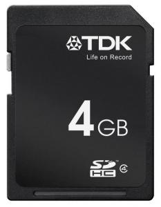 TDK memorijska kartica SDHC 4GB C4