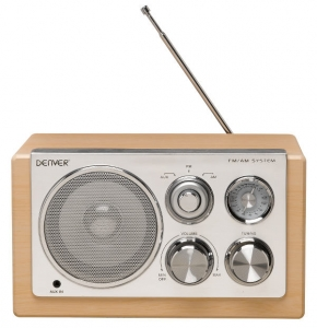 DENVER Radio tranzistor TR 61 LIGHT WOOD