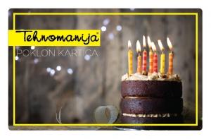 Tehnomanija poklon kartica za rođendan