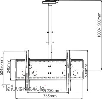S BOX Plafonski nosač CPLB 102M