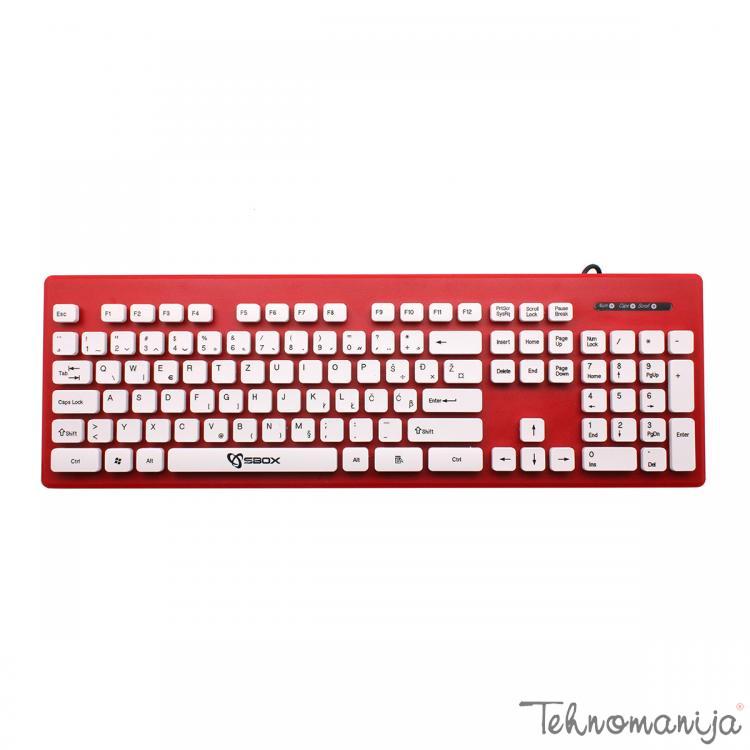 S BOX Tastatura K 16 R, Crvena
