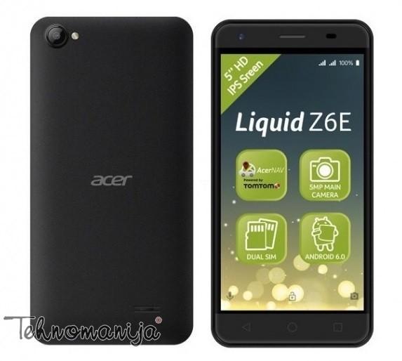 "ACER Mobilni telefon LIQUID Z6E DS 5"", 1GB, 5 Mpix"