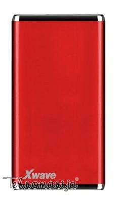 X WAVE power bank BOOK 40 PRO RED