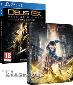 SQUARE ENIX igra PS4 DEUS EX: MANKIND DIVIDED STEELBOOK