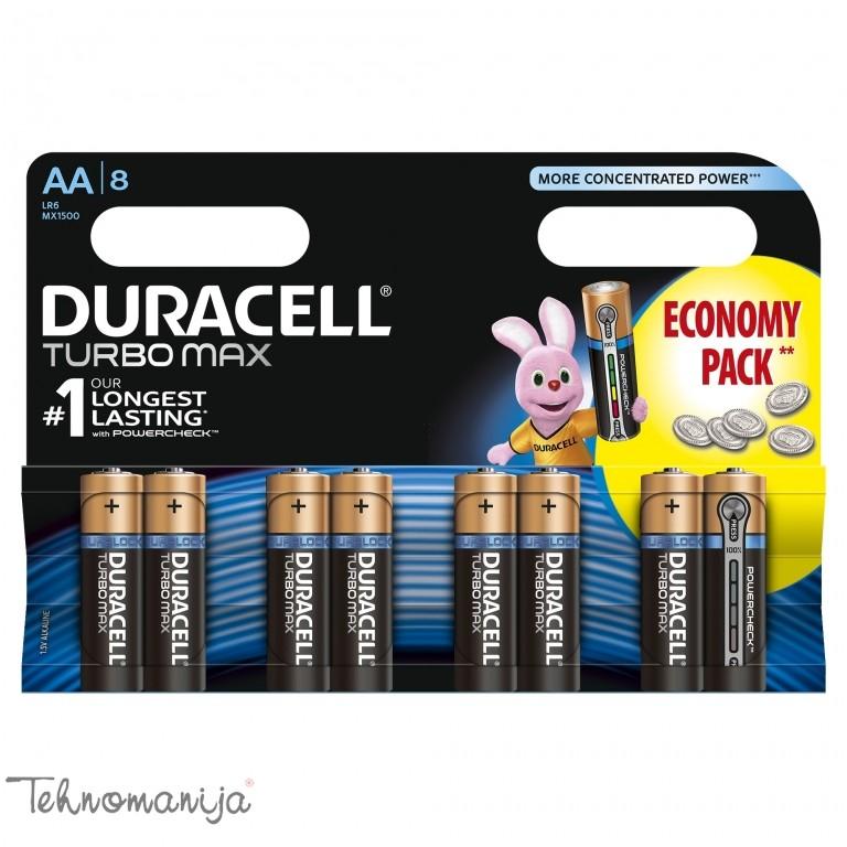 DURACELL baterije TURBO AA 8 KOM