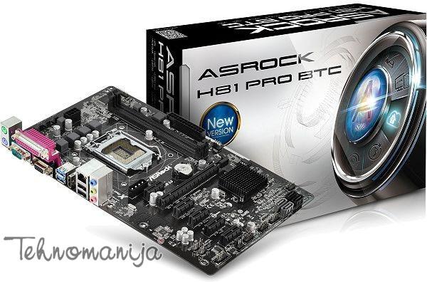 ASROCK Matična ploča H81 PRO BTC