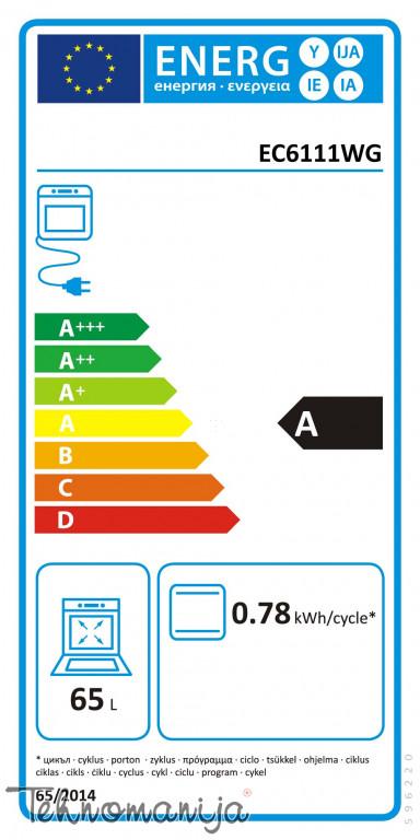 GORENJE Električni šporet EC 6111 WG, Konvencionalna rerna