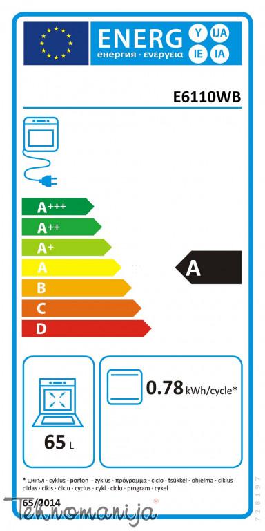 GORENJE Električni šporet E 6110 WB, Konvencionalna rerna