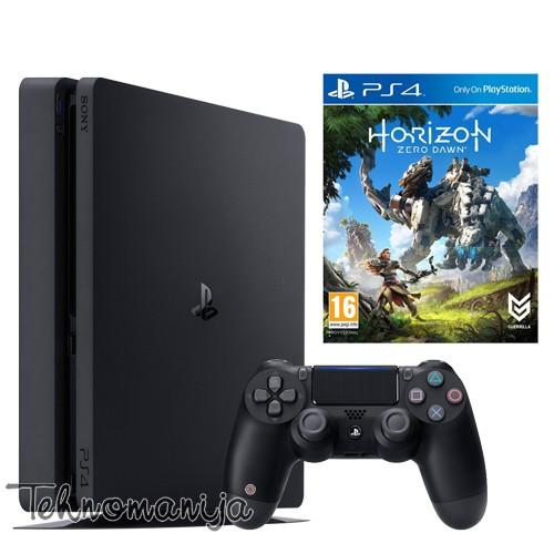 SONY Konzola PS4 500GB CRNA + HORIZON ZERO DOWN