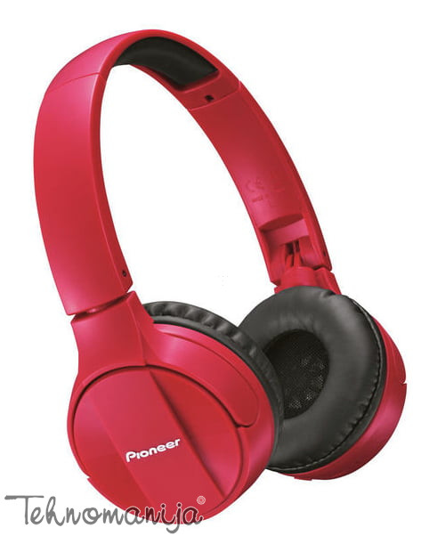 PIONEER Bluetooth slušalice SE-MJ553BT-R RED