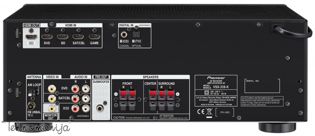 PIONEER AV receiver VSX-330-K AV