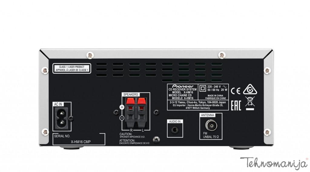PIONEER Mini linija X-HM16-S, SILVER