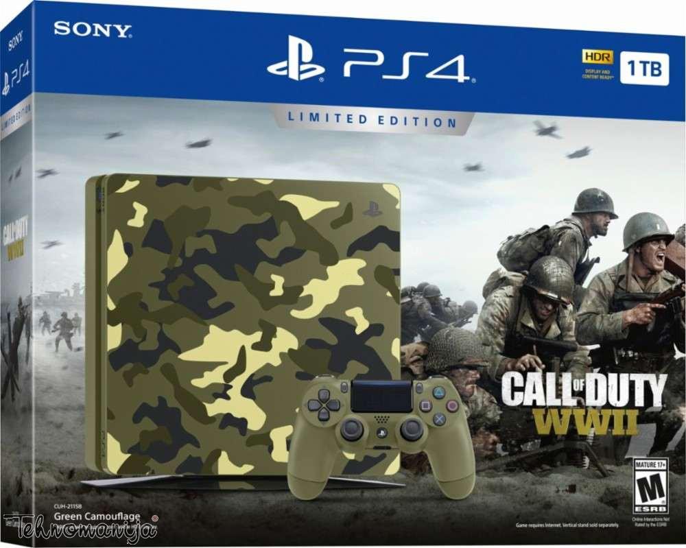 SONY Konzola PS4 1TB + COD SE ZELENA