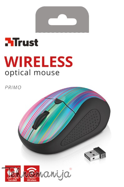 TRUST Bežični miš Primo Black Rainbow