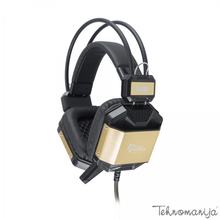WHITE SHARK Slušalice GH 1646 Jaguar, Crno-zlatne