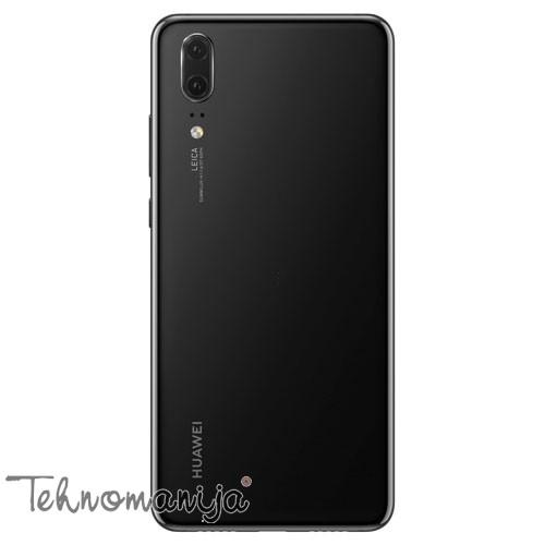 HUAWEI Smart telefon P20 CRNA DS, 4 GB, 12.0 Mpix + 20.0 Mpix