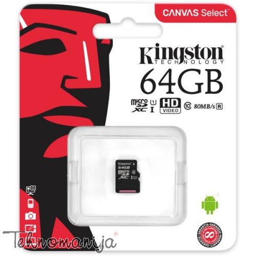KINGSTON Memorijska kartica SDCS 64GBSP