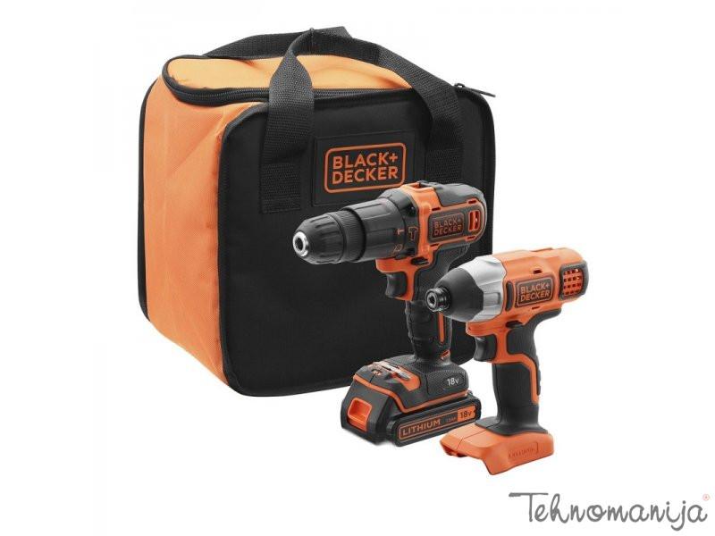 BLACK & DECKER Akumulatorska bušilica i udarni odvijač BCK21S1S