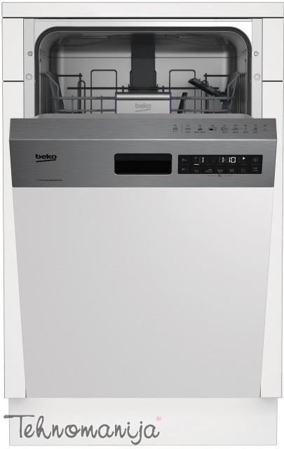 BEKO Mašina za pranje sudova DSS 28021 X, Polu-ugradna
