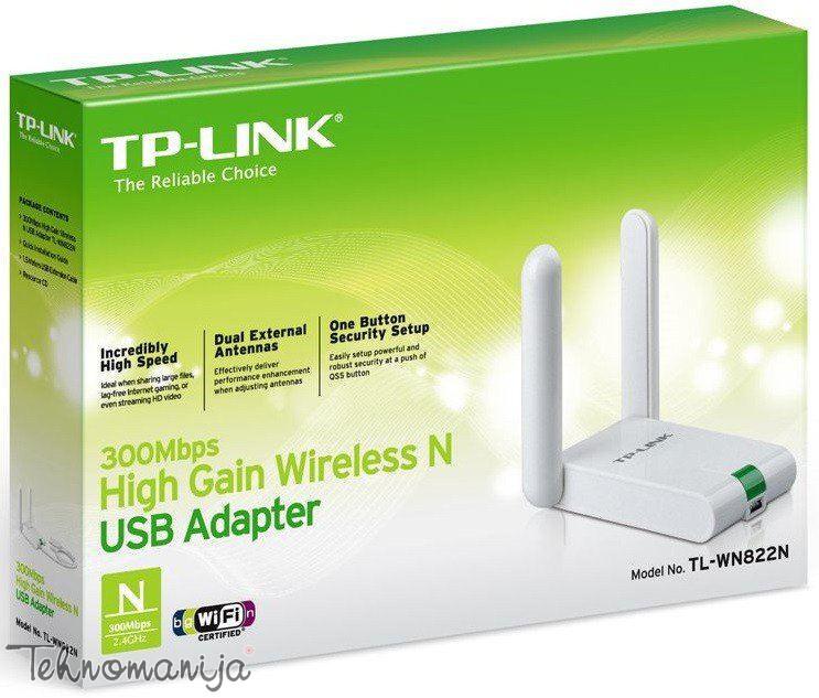 TPLINK 300Mbps, Bežični USB adapter TL-WN822N