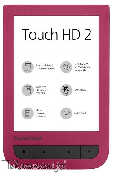 """POCKETBOOK Čitač elektronskih knjiga POCKETBOOK TOUCHHD2, 6"""""""