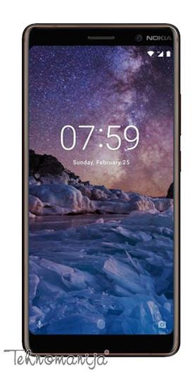 """NOKIA Mobilni telefon 7 PLUS DS BK C 6"""", 4GB, 12 Mpix"""