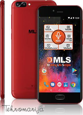 MLS Smart telefon DX 4G RD, 2GB, 16Mpx, Crvena