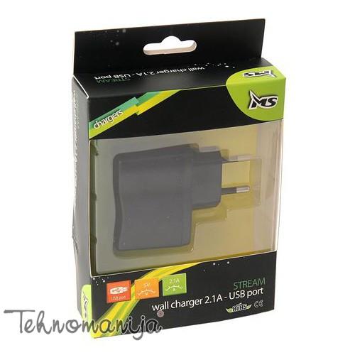 MS Zidni punjač STREAM 2.1A USB WALL