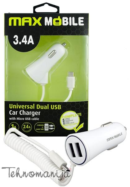 MAX MOBILE Punjač za mobilni telefon DUO 3.4A MICRO USB W