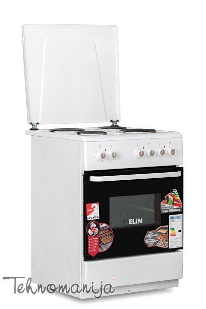 ELIN Električni šporet EF 604 TFI BELI