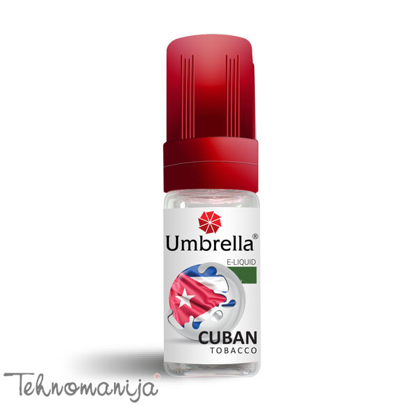 Umbrella Tečnost za elektronske cigarete Cuban Tobacco - 10 ml - 18 mg