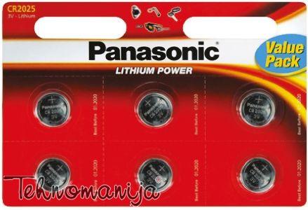 PANASONIC Baterije CR-2025 L/6BP