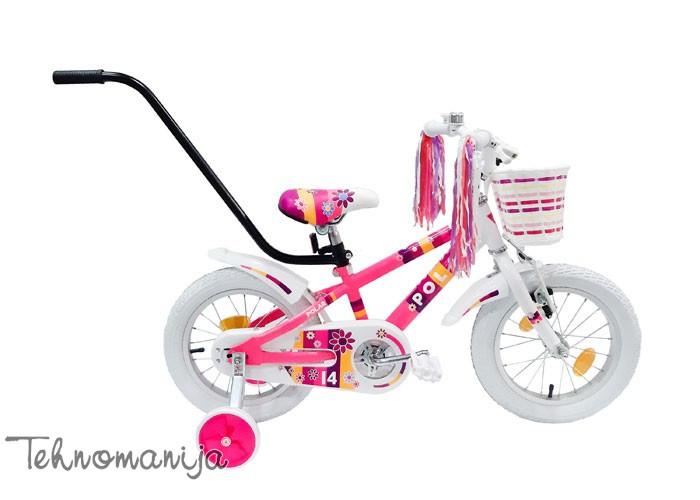 """POLAR Bicikl Junior girl 14"""" - Roze-beli"""