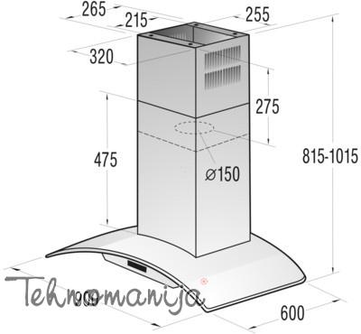 Gorenje aspirator IDKG9545E