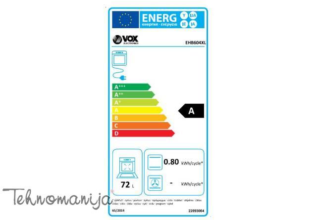 VOX Električni šporet EHB 604, Konvencionalna rerna