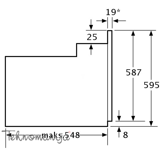 Bosch ugradna rerna HBA 24U250