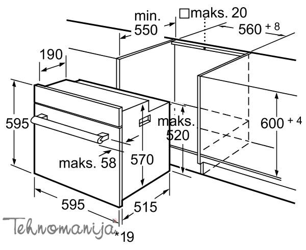 BOSCH Ugradna rerna HBA 43T350, Multifunkcionalna rerna
