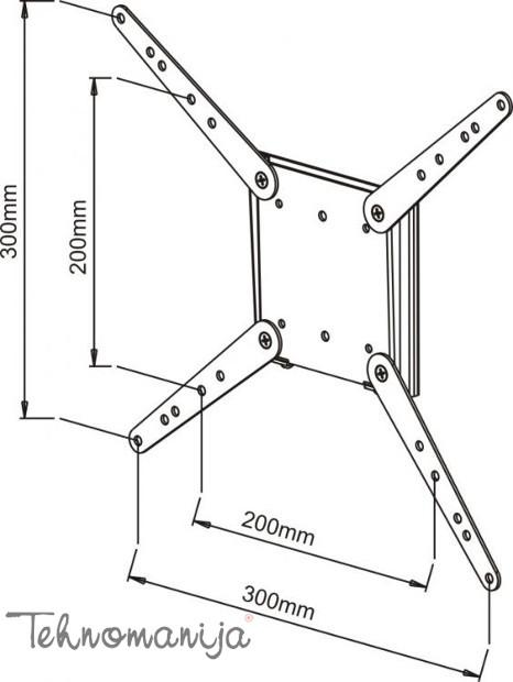 S Box adapter VESA za nosače ekrana