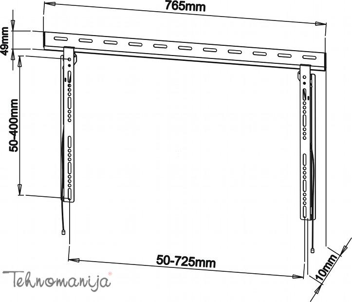 S Box nosač za televizor PLB 125M