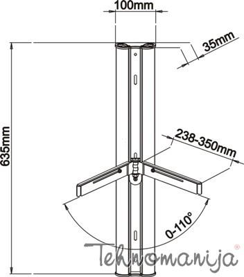 S Box zidni nosač za A/V komponente DRS 301
