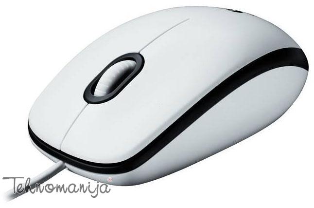 LOGITECH Žični miš M100, Beli